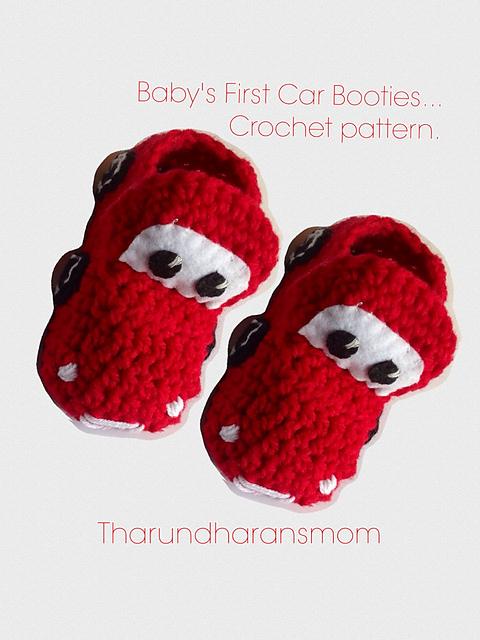 Ravelry Babys First Car Booties Pattern By Tharundharansmom Mahesubbu