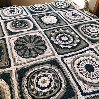 Ravelry Flora Afghan Stitch Along Pattern By Michael Sellick