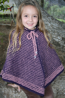 Girl's Tunisian Poncho pattern by Amy Depew - Ravelry