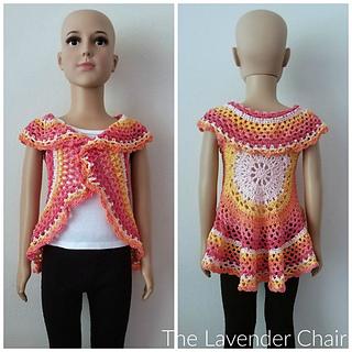 9447d508709c1 Ravelry  Chrysanthemum Circular Vest pattern by Dorianna Rivelli