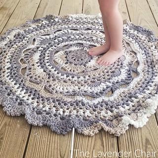Ravelry Midnight Star Mandala Rug Pattern By Dorianna Rivelli