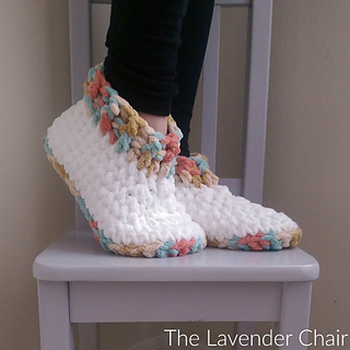 3351854d2ed60 Cloud 9 Slippers pattern by Dorianna Rivelli