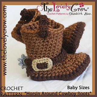 Ravelry Horsin Around Cowboy Boots Baby Sizes Pattern By Elizabeth Alan