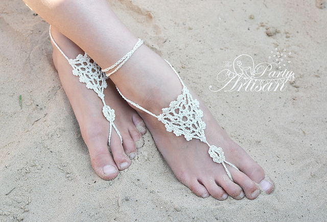 Ravelry Beautifully Simple Barefoot Sandals Pattern By Carolyne Anne