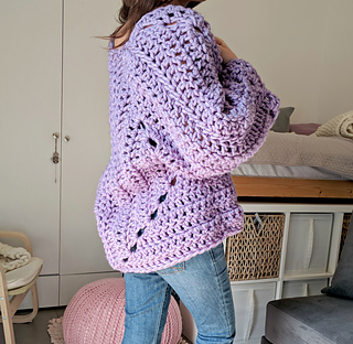 Ravelry Super Chunky Hexagon Cardigan Pattern By Michelle