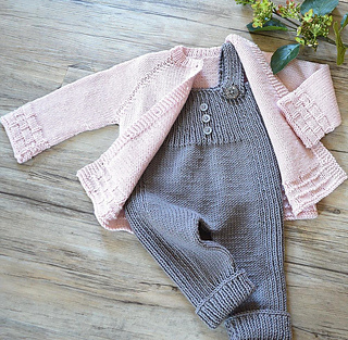 65c135d97 Ravelry  Tiny tots top down cardigan and overalls - P116 pattern by ...