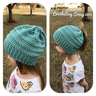 Ravelry  Adjustable Ponytail Hat pattern by Courtney Carter 8b4f2ffc8d3
