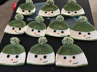 8bf8fbe99 Ravelry: Happy Snowman Hats pattern by 4 Kids and a Hobby