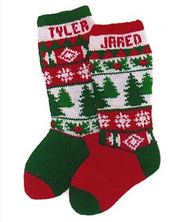 trees and holly christmas stocking - Christmas Stocking Kits