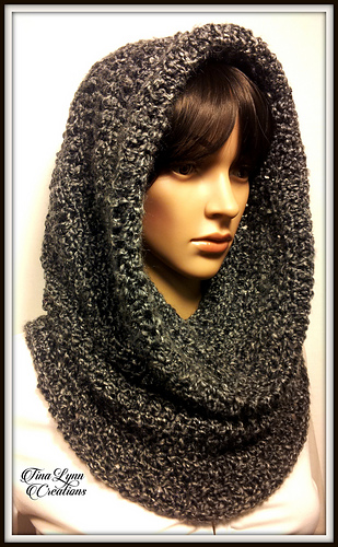 Ravelry Obsidian Hooded Cowl Pattern By Tina Lynn Creations