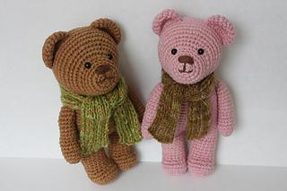 Cute bear amigurumi : Ravelry amigurumi crochet teddy bear pattern by happyamigurumi