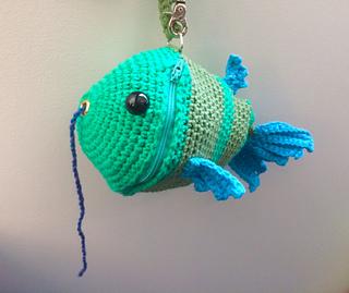 Ravelry Fish Wristlet Yarn Holder Bag Pattern By Briana K Designs