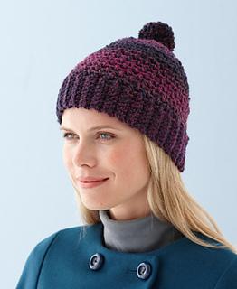 e5483a23472 Ravelry  Cozy Pom-Pom Hat pattern by Lion Brand Yarn