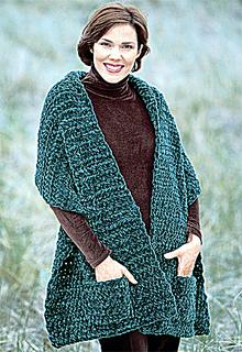 Ravelry Plush Pocket Wrap Crochet Pattern By Lion Brand