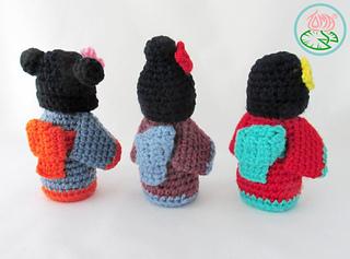 Free Amigurumi Kokeshi Doll Patterns : Ravelry amigurumi mini kokeshi japanese doll pattern by tamara