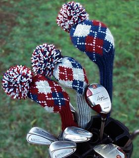Ravelry Golf Club Cover Heirloom Argyle Design Pattern