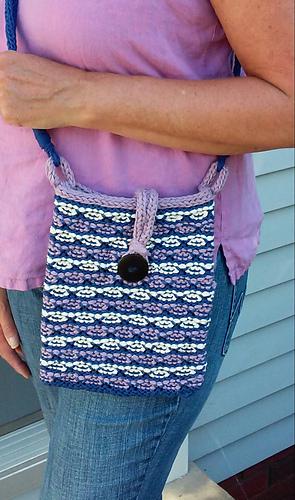 Ravelry Lotus Flower Small Bag Pattern By Sherrie Kibler