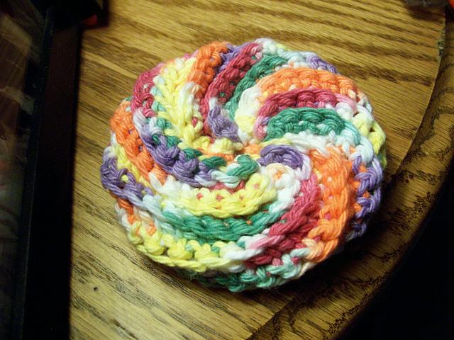 Ravelry Spiral Scrubbie Pattern By Judith Prindle Classy Crochet Spiral Scrubbies Pattern