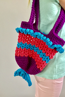8908a57408 Ravelry  Mermaid Tail Purse pattern by Cassie Stebelton