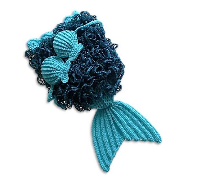 Ravelry Mermaid Tail And Shell Bikini With Ruffles Pattern By