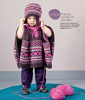 ravelry 64 poncho pattern by editions marie claire phildar. Black Bedroom Furniture Sets. Home Design Ideas