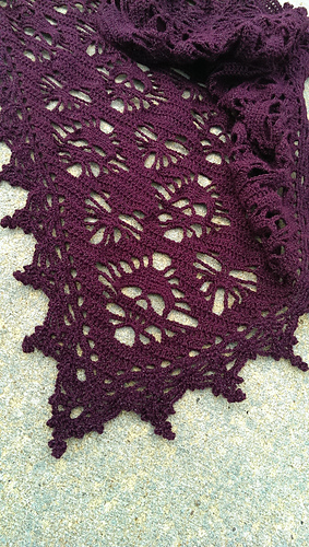 Ravelry Skull Hearts Shawl Pattern By Meghan Davis