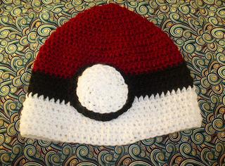 Ravelry Crochet Pokemon Pokeball Beanie Hat Pattern By