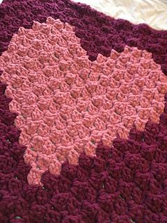 Ravelry: c2c Heart Blanket pattern by Victoria Gillis
