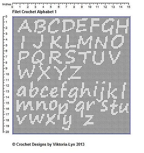 Free Filet Crochet Charts And Patterns Letter W Filet Crochet