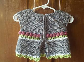 de32e7339 Ravelry  Little Roses Baby Cardigan pattern by Kathryn Mason
