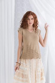 #02 Lace Hem Top pattern by Mari Tobita