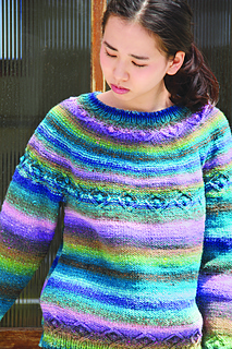 ef21c72e4 Ravelry   24 Cable Yoked Pullover pattern by Noro