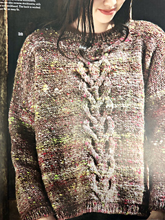 42967fa63 Ravelry   28 Oversized Cable Top pattern by Noro