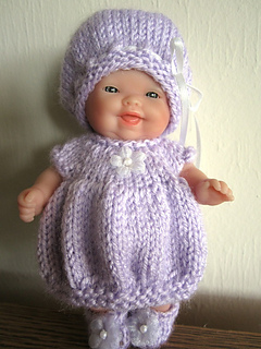 Ravelry: Bubble Dress & Hat Set 5 inch Itty Bitty Baby ...