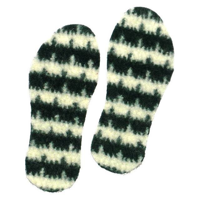 740b89c0ac5bf Felted Insoles to Knit or Crochet pattern by Wee Sandy