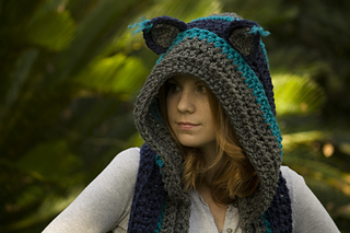 Ravelry Hooded Scarf With Cat Ears Cat Scoodie Pattern