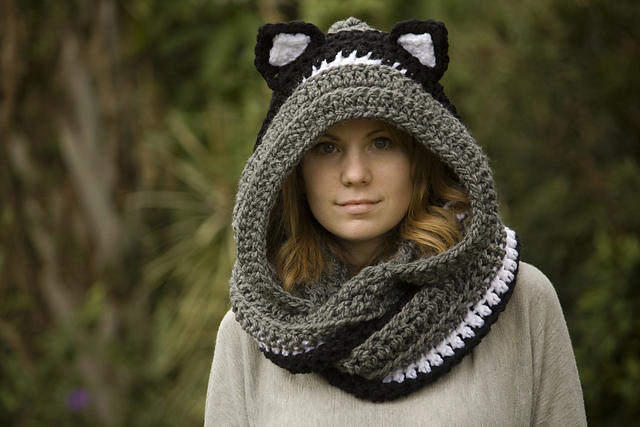 Ravelry Hooded Scarf With Cat Ears Cat Scoodie Pattern By Melissa