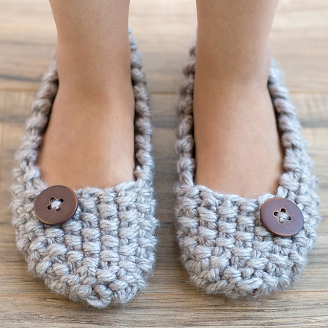 All About Free Knitting Pattern For Easy Soft Slippers Kidskunstfo