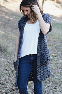 31e970bb2 Ravelry  York Sleeveless Cardigan pattern by Whistle and Wool