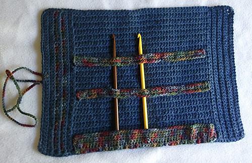 """Ravelry: 12"""" Crochet Hook Holder pattern by Lori-Anne Ketola"""