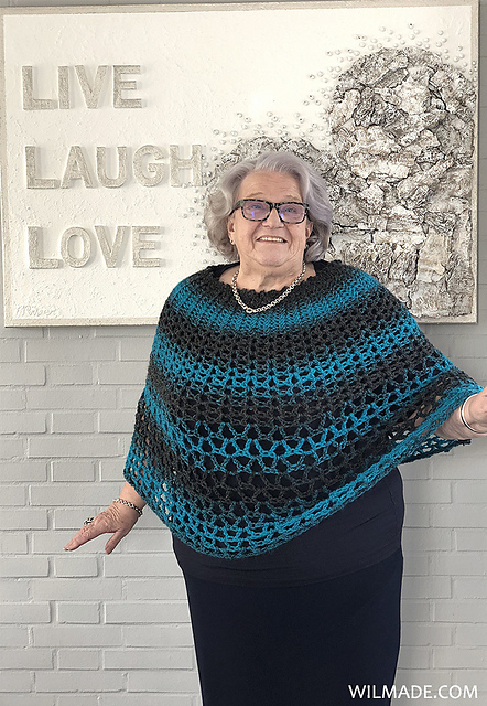 Ravelry Perfect Gift Poncho Pattern By Wilma Westenberg