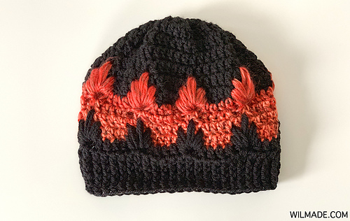 Ravelry Fire Flame Hat Pattern By Wilma Westenberg