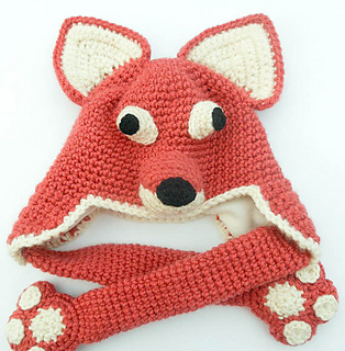 34aabb4fb0881 Ravelry  Fox Hat with Paws pattern by Wistfully Woolen