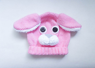 478b1d3361cad Ravelry  Bunny Rabbit Animal Baby Hat pattern by Wistfully Woolen