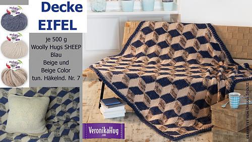 Ravelry 3 D Decke Eifel Pattern By Veronika Hug Woolly Hugs