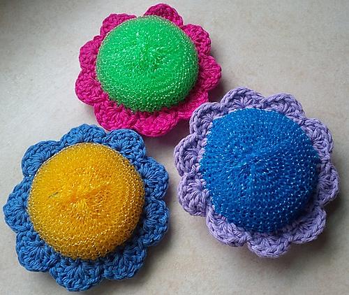 Ravelry Flower Power Scrubbie Pattern By Wren Couture