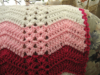 Ravelry White Chocolate Strawberry Double Shell Ripple