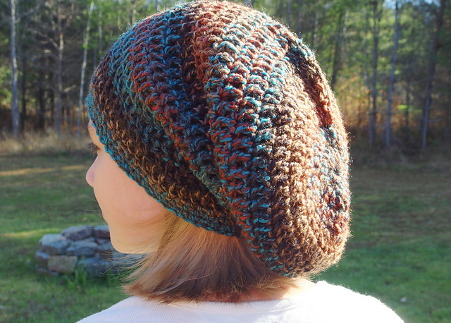 a0400891ec6 Ravelry  Seamless Spiral Bulky Slouch Hat pattern by Yarn me Silly