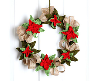 Ravelry Christmas Poinsettia Wreath Pattern By Tanya