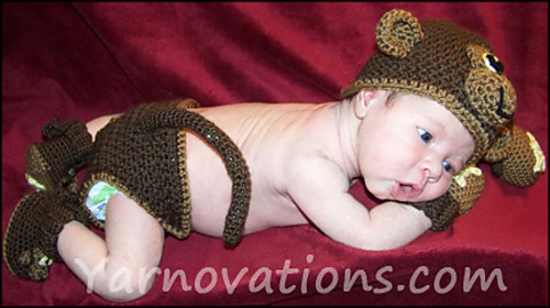 Ravelry Monkey See Monkey Do Baby Hat Mitts And Booties Pattern
